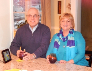 Gary Zarrilli and Lynn Holl enjoying a glass of Malbec.