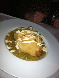The haddock on split pea was ordered by Teresa Hagan.