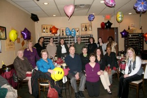 Here's the entire MCCC College Advancement staff celebrating at Padrino's just in January 2012.