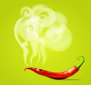 Steaming Hot Chili Pepper