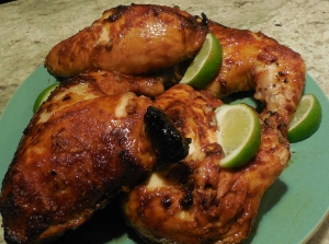Finished Sriracha Chicken, legs and breasts.