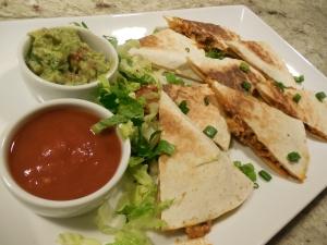 Mario Batali's Spicy Chicken and Cheddar Quesadillas.