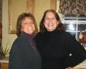 Me and Maureen Evans Kelly a in her kitchen in Oxford, NJ several years ago.