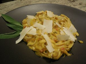 Winter Squash Pasta Carbonara