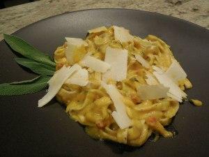 Winter Squash Pasta Carbonara