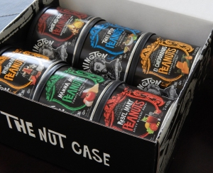 "The Lord Nut Levington ""Nut Case"" with 6 different flavors."
