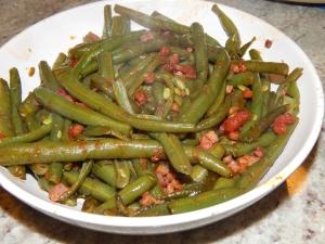 Sautéed green beans, cáceres style.