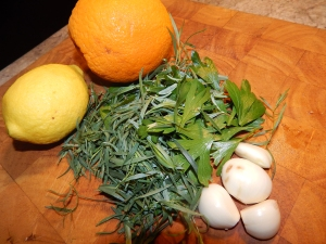 herbs.garlic.citrus
