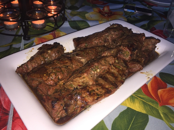 grilled flap steaks