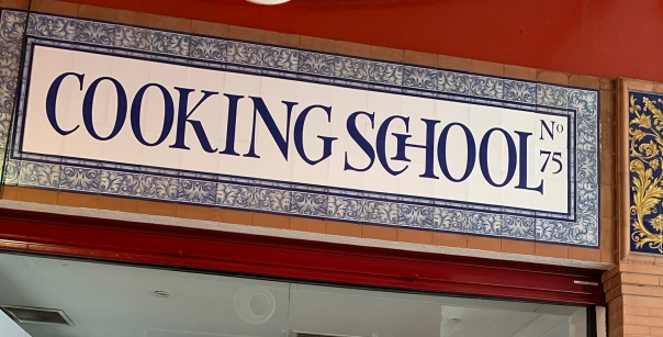 cooking school sign